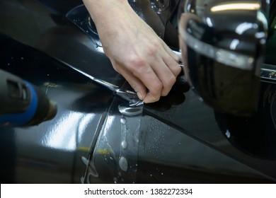 car paint protection film installing
