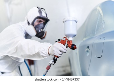 car painting in chamber. automobile repair