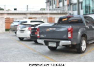 car park parking place, parking lot blur