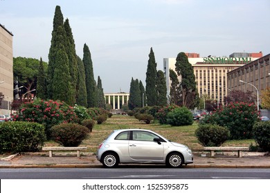 Car parked in front garden