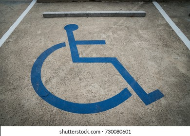 Car parking space for handicap