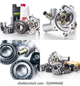 Car parts collage