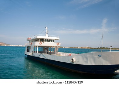 car and passenger ferry boat from Paros to Anti-Paros  Cyclades Greek Islands in Greece
