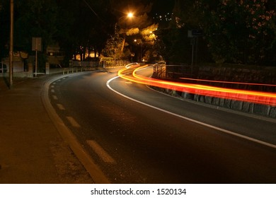 a car passing in the night