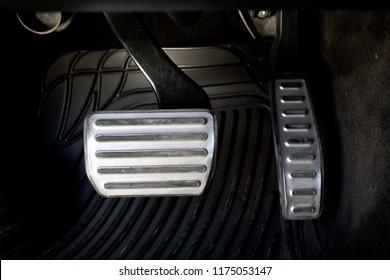 car pedals closeup