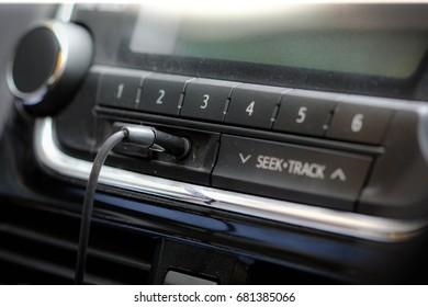 Car phone line jacks with backdrop