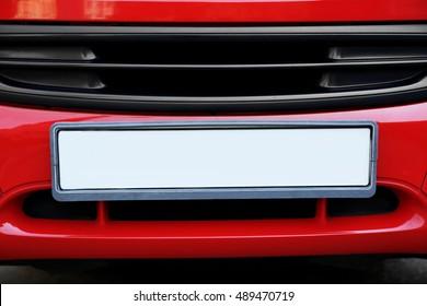 Car plate number, closeup