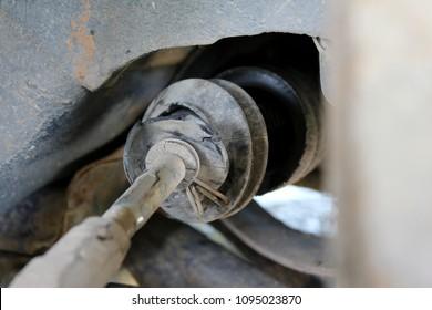 car problem broken cv boot power steering rack