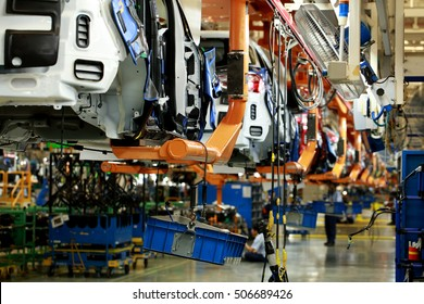 Car Production line, Body frame hanging line, lean manufacturing of automotive industrial