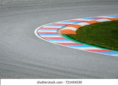 Car race track curve