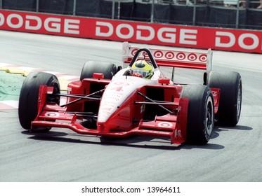 Car racer Bruno Junqueira at the Molson Indy Vancouver, Canada, 28Jul2002
