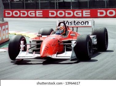 Car racer Oriol Servia at the Molson Indy Vancouver, Canada, 28Jul2002