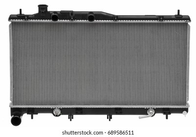 car radiator isolated in white background