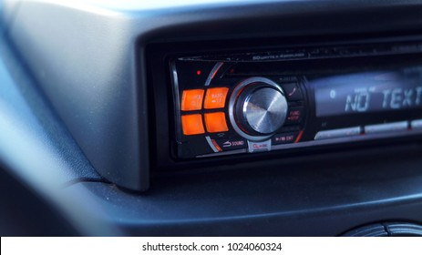 Car radio in car