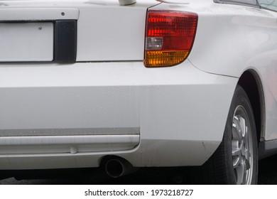 car rear bumper and lights