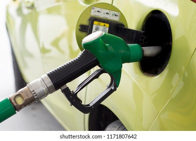 Car refueling on a petrol station