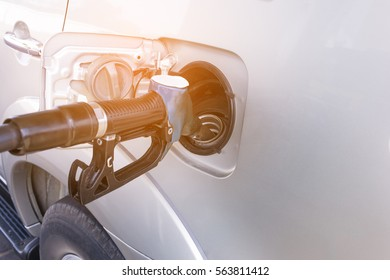 Car refueling on the petrol station