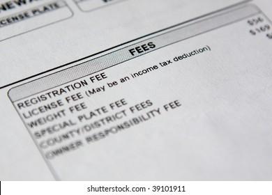 car registration detail