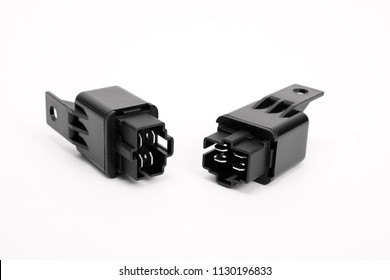 car Relay on white background