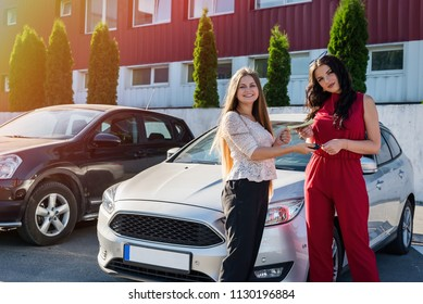 'Car rent' deal between two beautiful women