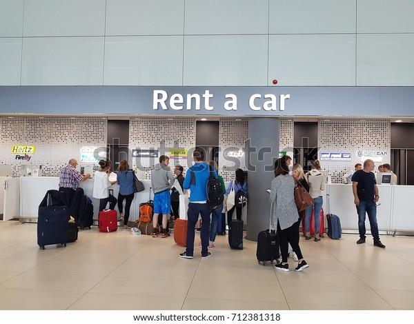 Car Rental Desk Airport Zagreb Croatia Stock Photo Edit Now 712381318