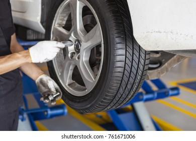 Car repair, wheel
