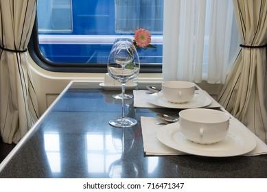 car restaurant trains interior