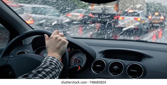 car ride in winter
