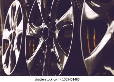 Car rims background