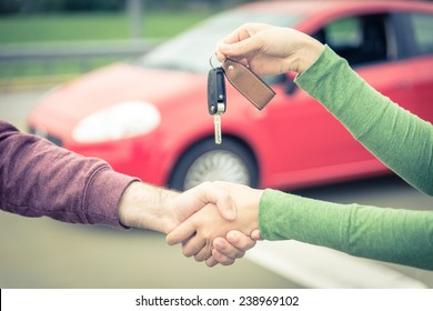 car sales. buyer and seller get to an agreement.