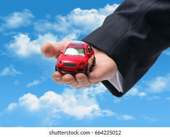 Car sales symbol on the sky