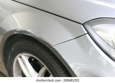 car scratched from the accident
