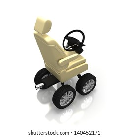 Car seat with wheels