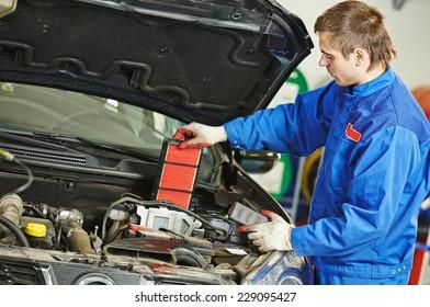 Car servicing, air filter replacing maintenace