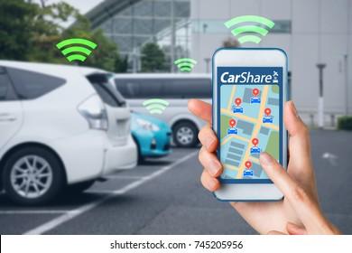 Car sharing concept.