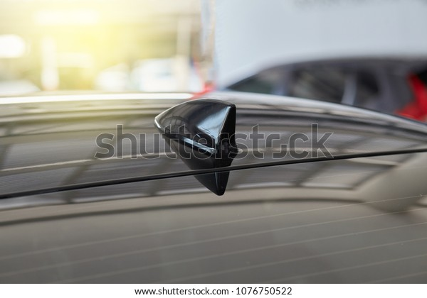 Car Shark Fin Antenna Receive Radio Stock Photo (Edit Now