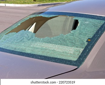 Car with Shattered Rear Window