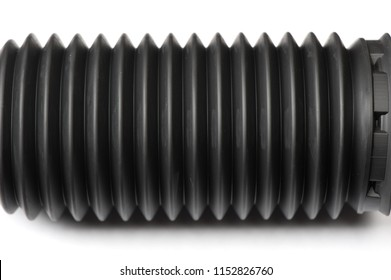 Car shock absorber protection rubber for dust and dirt isolated on white