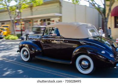 Car Show on the streets of Rio Vista Ca. Oct 14, 2017