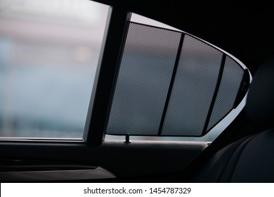 Car side window curtains sunshades. Insect screen