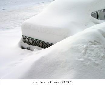 car in the snowdrift