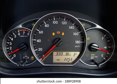 Car Speed Dashboard, with LED display.