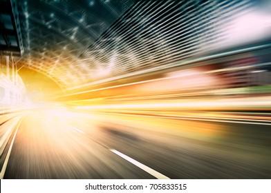 Car speed, dynamic background