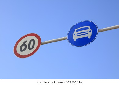 car speed limit signs
