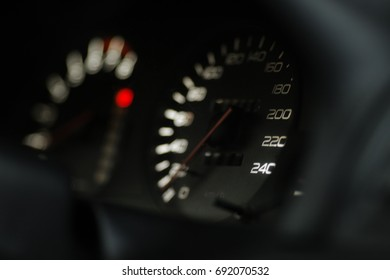 car speedometer focus on