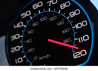 Car speedometer with mileage clock