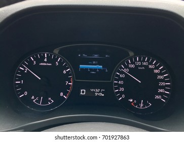 Car speedometer and odometer