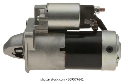 car starter electric part isolated in white