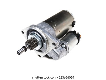 car starter isolated on white background