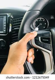 Car steering wheel handle correctly.